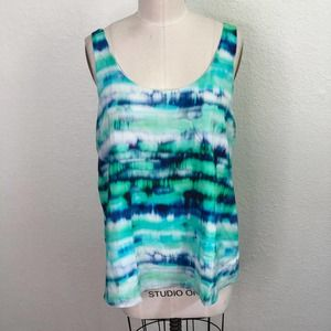 Amour Vert Camisole Tank Top White Blue Green